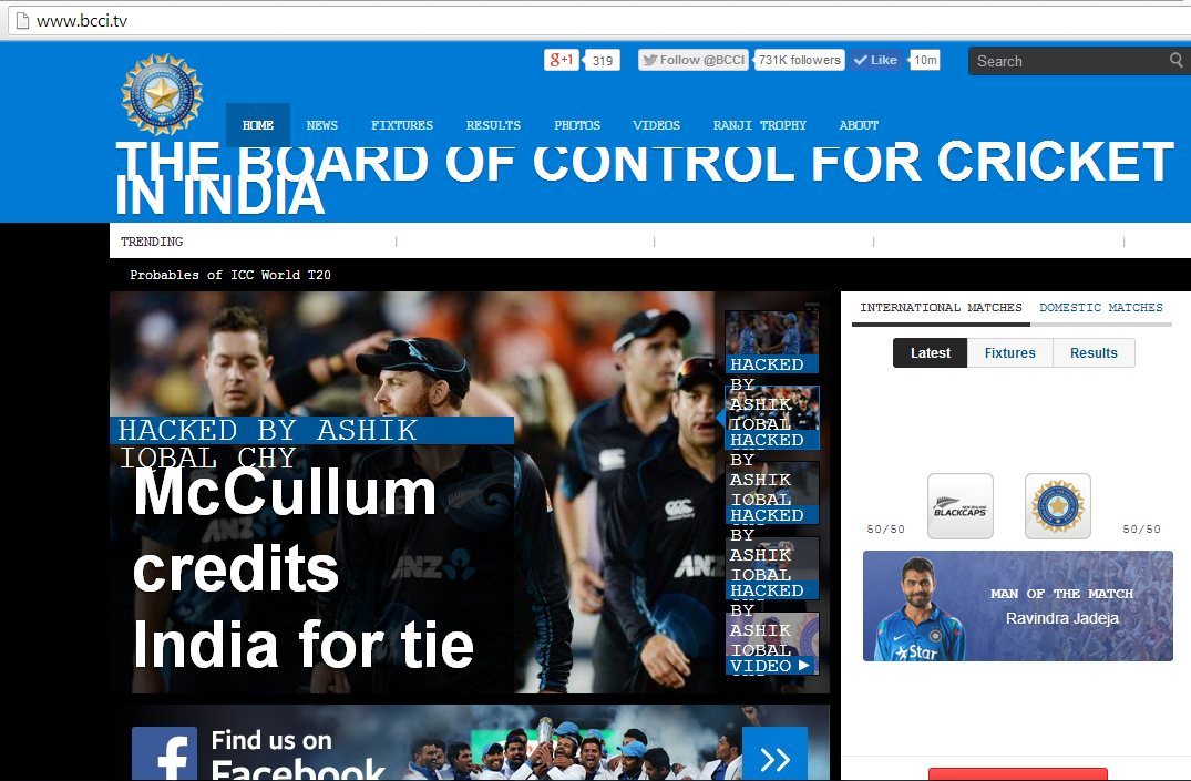 official website of bcci goes offline after domain not renewed