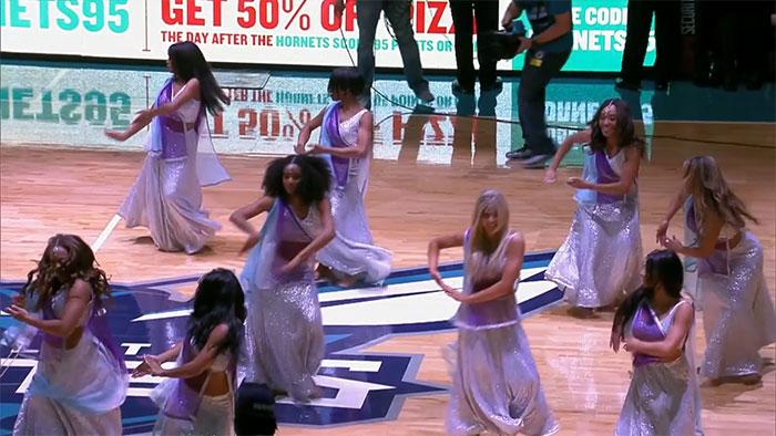 cheerleaders perform on ghoomar during nba match in us