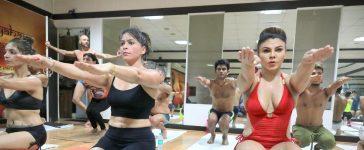 Rakhi Sawant, Rakhi Sawant practices yoga, Fourth International Yoga Day, Bollywood news, Entertainment news