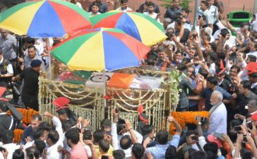 Atal Bihari Vajpayee, Former Prime Minister, Former Indian Prime Minister, Mortal remains of Vajpayee, BJP headquarters, Rashtriya Smriti Sthal, Last rights of AtalBihari Vajpayee, National news