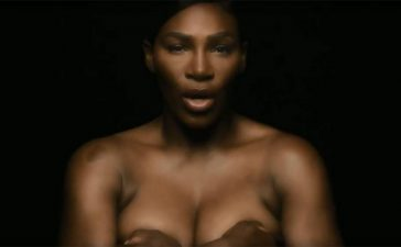Serena Williams, Serena Williams poses topless, Serena Williams poses topless in video, Serena Williams poses topless for breast cancer awareness, Serena Williams touch breasts, Tennis news, Sports news