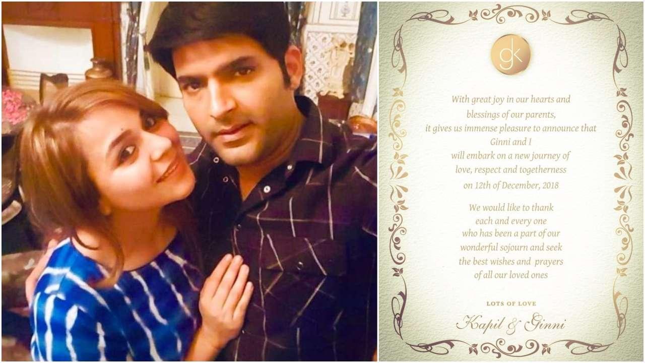 Kapil Sharma announces wedding date with girlfriend Ginni