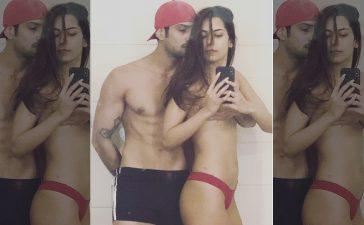 Prateik Babbar, Sanya Sagar, Prateik Babbar shares topless photo of wife, Sanya Sagar nude snap, Instagram, Prateik Babbar shares nude snap of wife Sanya Sagar, Bollywood news, Entertainment news