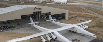 Stratolaunch, Microsoft, Paul Allen, World largest plane, First flight, American football field, Airplane, Mojave Desert, Mojave Air, Space Port, California, Science and Technology news, Weird news, World news, Offbeat news