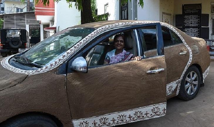 Sejal Shah, Cow dung, Summer, Toyota Sedan, Gandhinagar, Ahmedabad, Gujarat, Weird news, Offbeat news